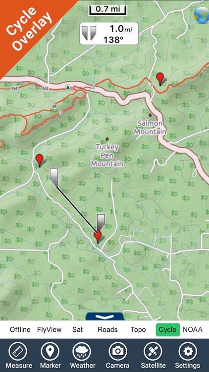 Ouachita National Forest - GPS Map Navigator