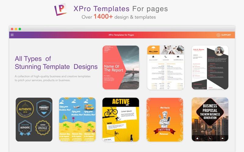 XPro - Templates for Pages