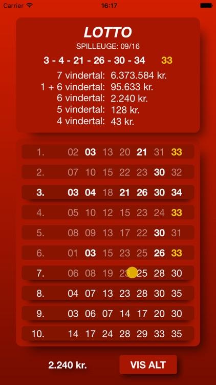 Lotto Scanner DK