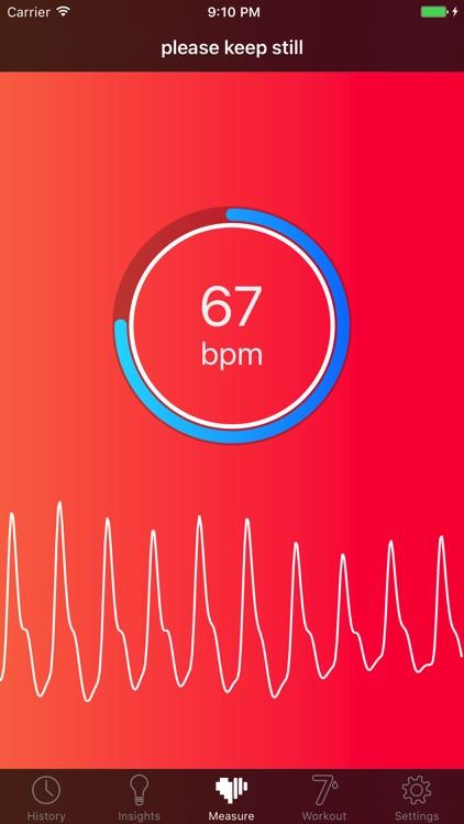 Cardiio: Heart Rate Monitor screenshot-4