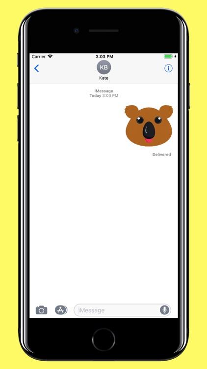 Koala Smiley - Bear emoji screenshot-3