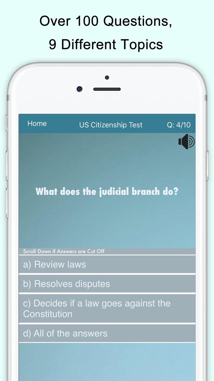 US Citizenship Test (USCIS) Screenshot