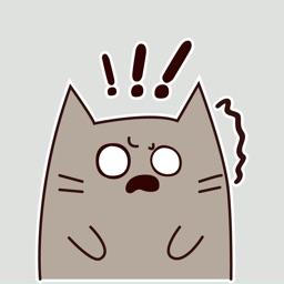 Gray Cat Animated Stickers