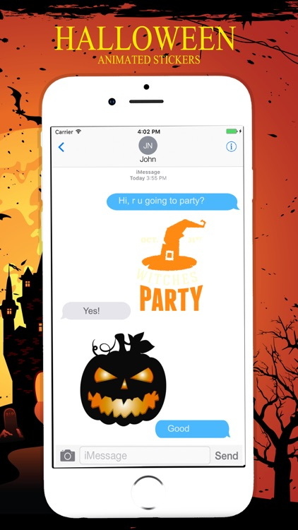 Animated Halloween Stickers Pack screenshot-3