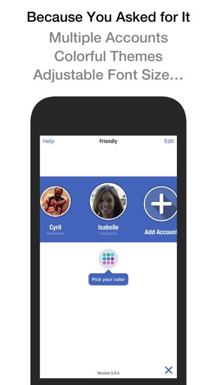 Friendly Plus for Facebook screenshot-3