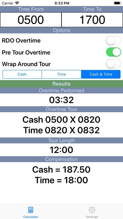 Overtime Calculator 2 0 by Paul Lamberti