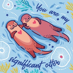 Funny Otters Stickers