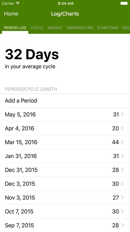 Period Tracker Lite screenshot-3