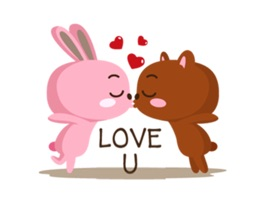 The bear and the rabbit are just like every couple out there, they are romantic, energetic and they even fight, but they love each other very much