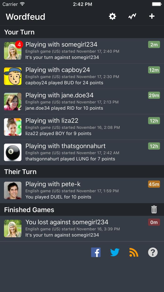 Wordfeud Screenshot