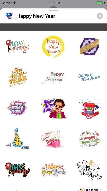 Stickers Happy New Year 2019