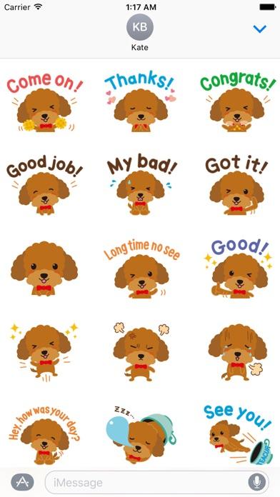 Cute Teacup Poodle Dog Sticker screenshot 2