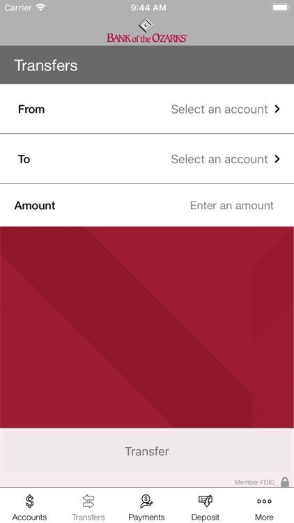 Bank of the Ozarks Mobile screenshot-4