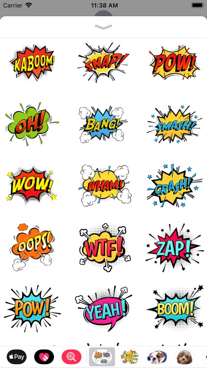 Comic Speech Bubble Stickers