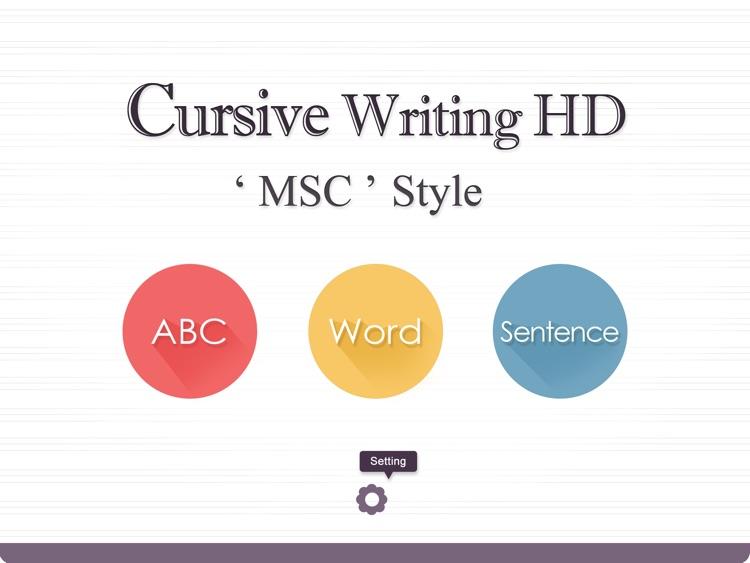 Cursive Writing HD MSC Style screenshot-0