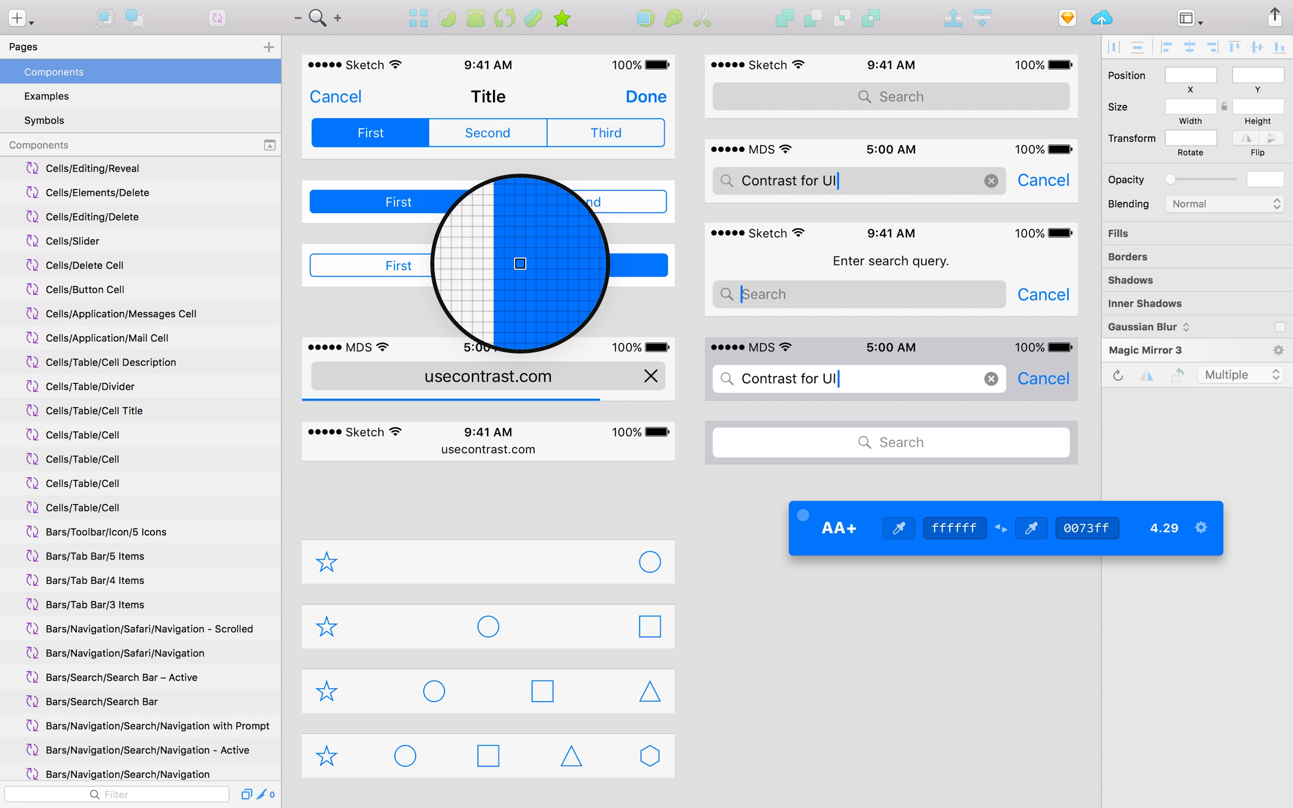 Screenshot do app Contrast — Color Accessibility