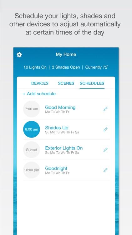 Lutron Caséta & RA2 Select app screenshot-3