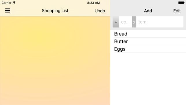 shopshop einkaufsliste im app store. Black Bedroom Furniture Sets. Home Design Ideas