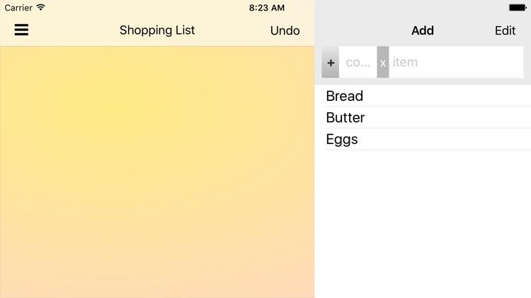 ShopShop - Shopping List screenshot-3