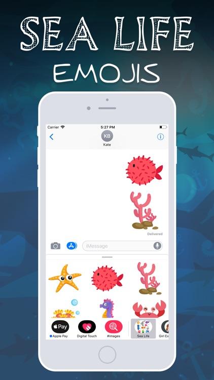 Sea Life Emojis screenshot-3