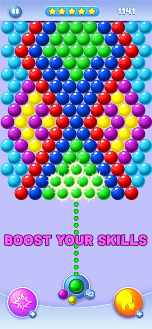 A bubble shooter match-3 game