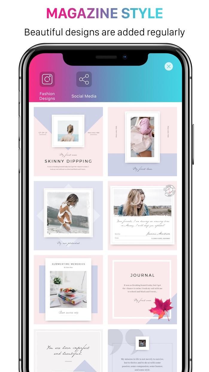 Mixgram Photo & Collage Maker Screenshot