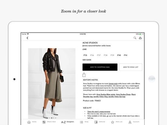 NET-A-PORTER: Designer Fashion Скриншоты11
