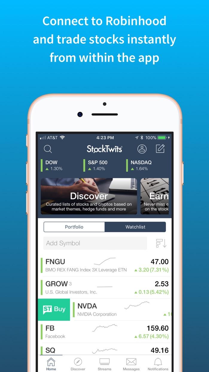 StockTwits Screenshot