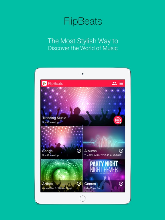 FlipBeats | Best Music App Screenshots
