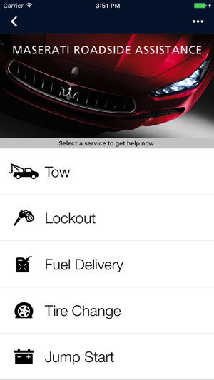 Maserati Roadside Assistance On The App Store - Maserati roadside assistance