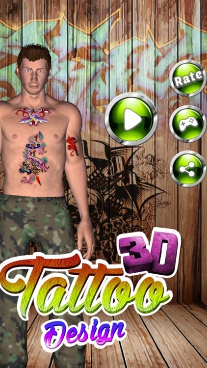 Tattoo Design Master 3D screenshot-3