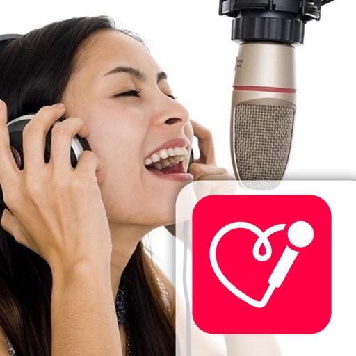 Red Karaoke Sing & Record application logo