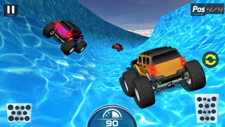 Water Slide Monster Truck driving screenshot-1
