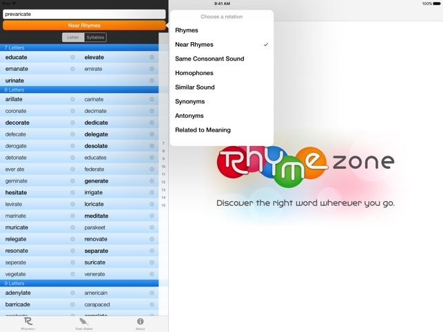 RhymeZone on the App Store