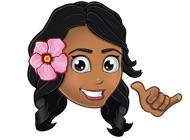 Animated Hawai'i Pidginmoji - Wahine