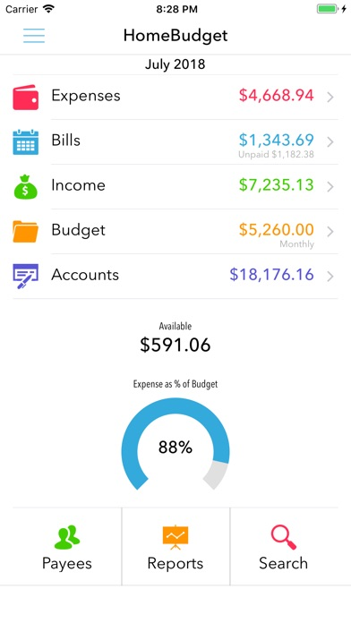 Screenshot for HomeBudget with Sync in United States App Store