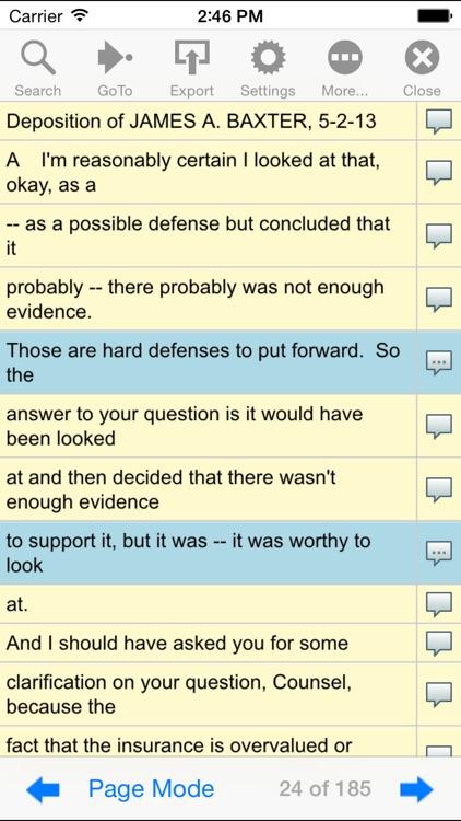 First Legal Deposition screenshot-4