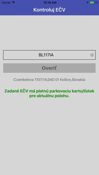 Kontroluj EČV screenshot two