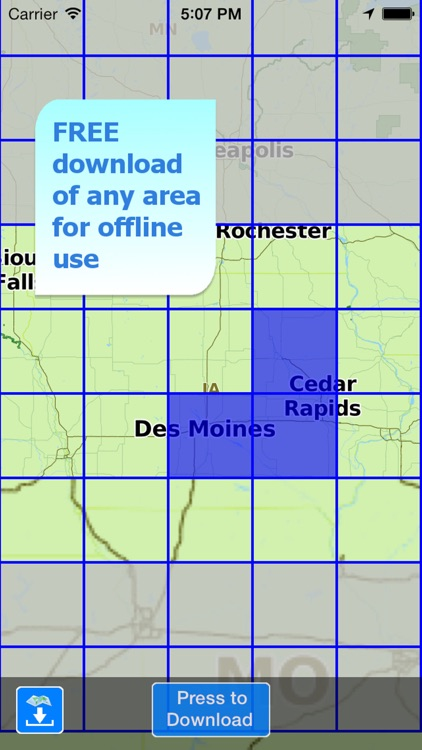 Aqua Map Iowa Lakes GPS HD screenshot-4