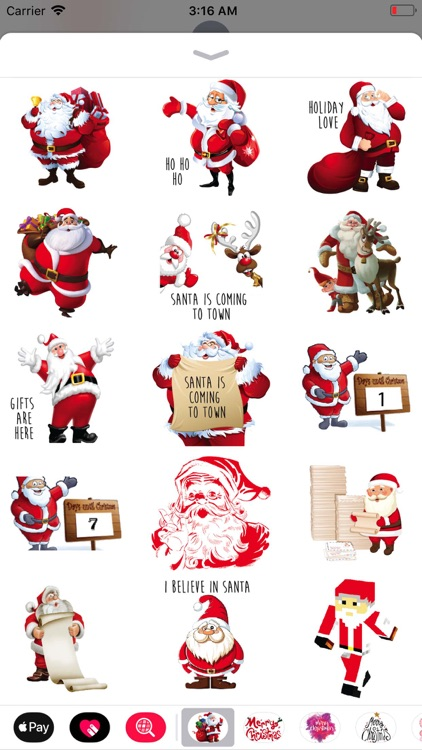 Christmas Santa Sticker Pack