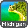 Michigan & Superior lakes charts GPS map Navigator
