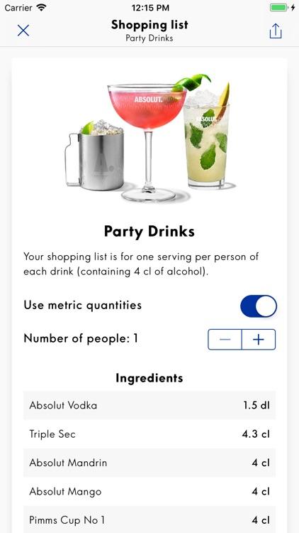 Drinkspiration By Absolut screenshot-3