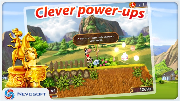 Supercow: funny farm arcade platformer screenshot-2