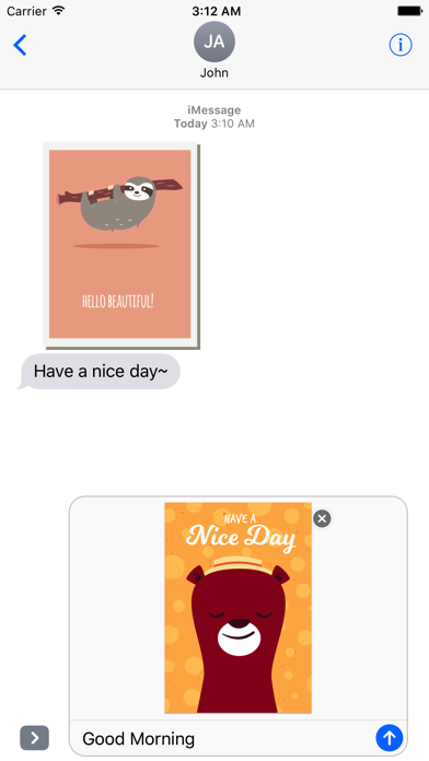 Happy Talk by Cute & Lovely Animal Characters Screenshot