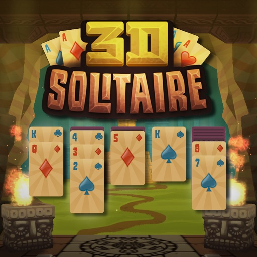 3D Solitaire free software for iPhone and iPad