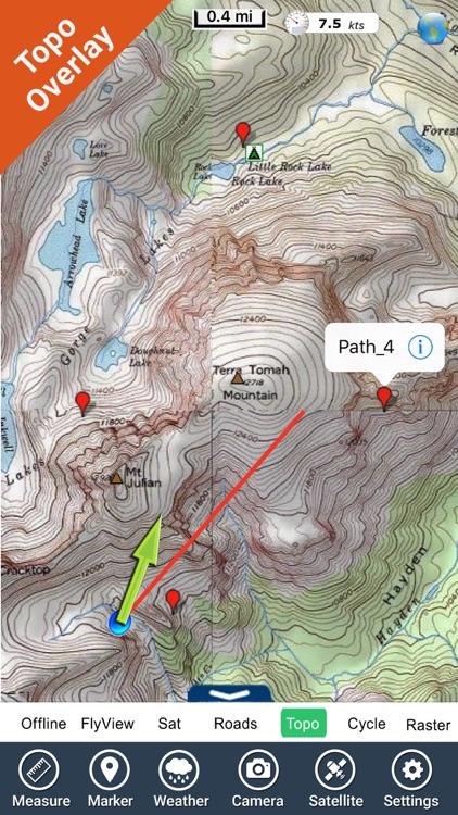 Rocky Mountain National Park gps and outdoor map screenshot-3