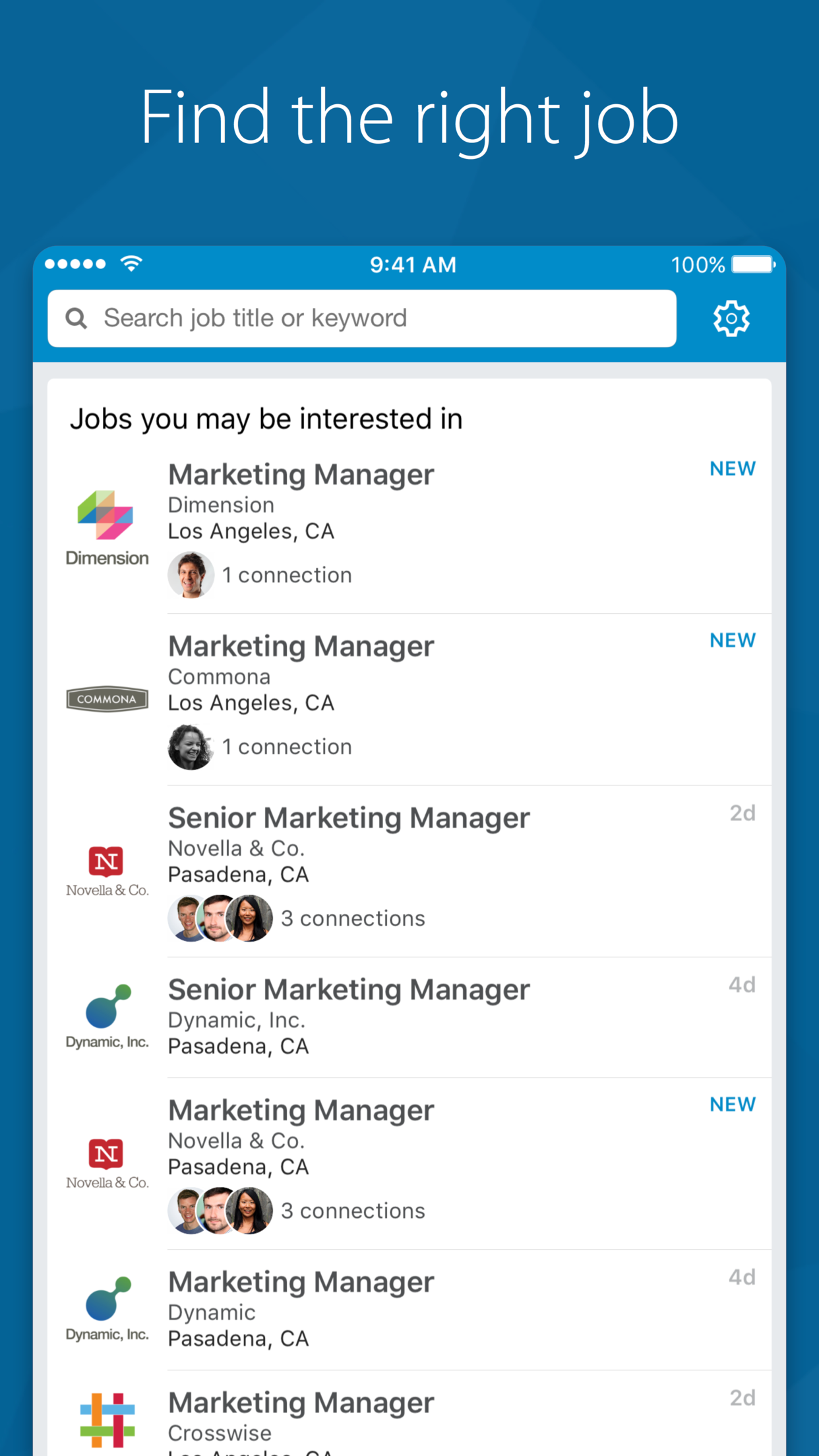 LinkedIn Job Search Screenshot