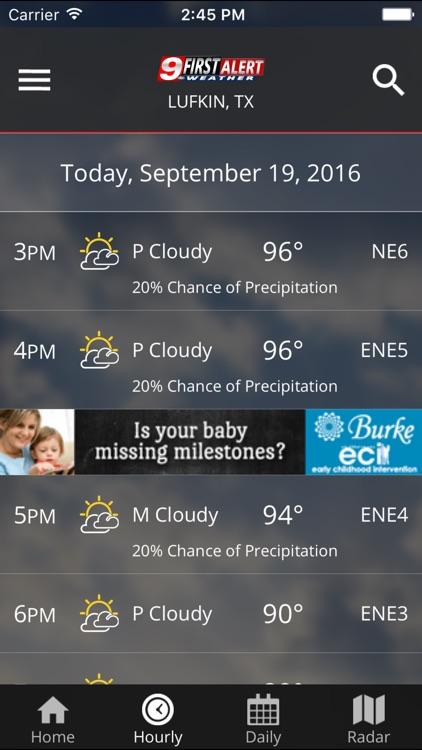 KTRE 9 First Alert Weather screenshot-4