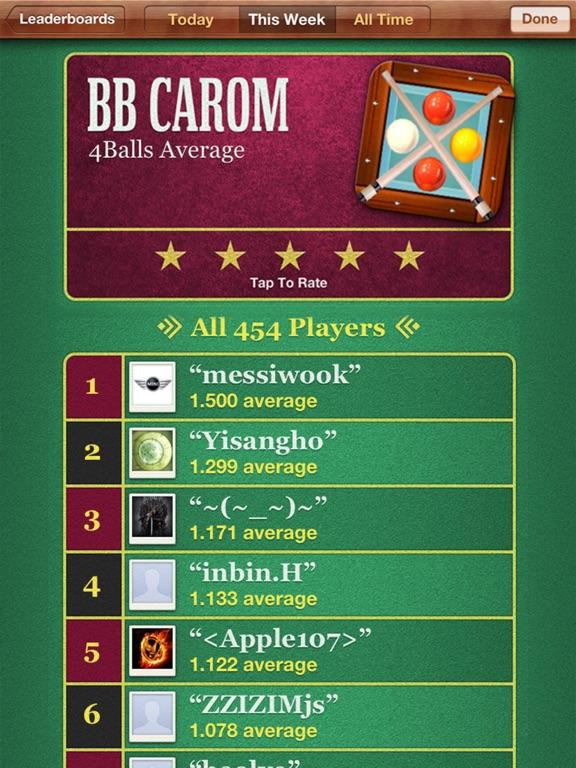 BB Carom Billiard Screenshots