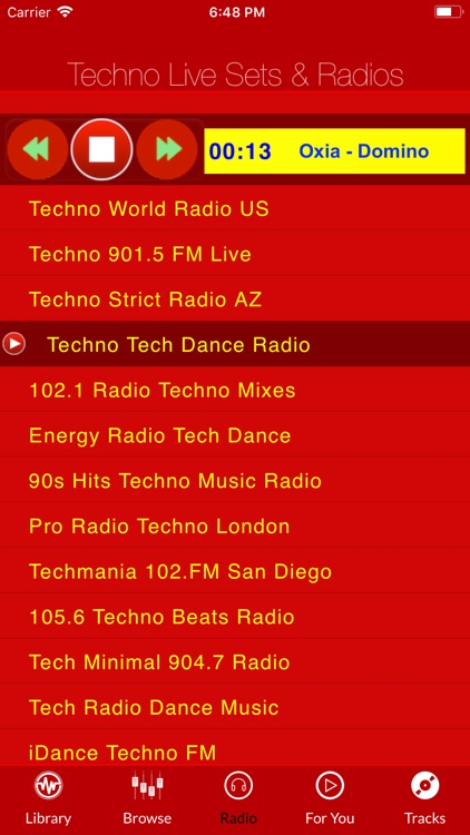 Techno Live Sets & Radios